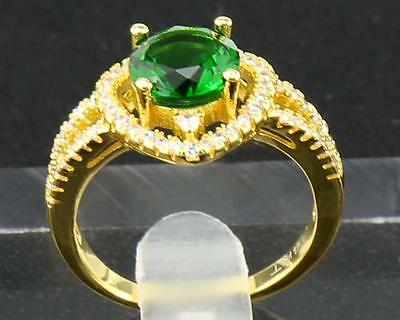 2.54 Carat Natural Emerald 14Kt Solid Yellow Gold Rings Size9