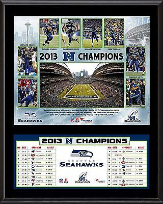 """Seattle Seahawks 2013 NFC Champions Sublimated 12"""" x 15"""" Plaque"""