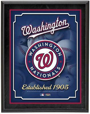 "Washington Nationals Team Logo Sublimated 10.5"" x 13"" Plaque"