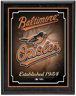 "Baltimore Orioles Team Logo Sublimated 10.5"" x 13"" Plaque"