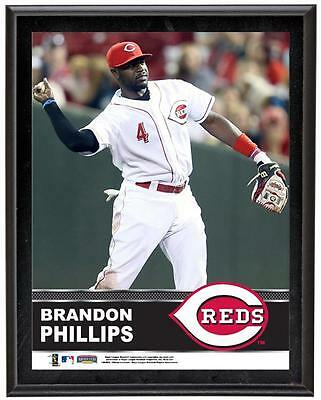 "Brandon Phillips Cincinnati Reds Sublimated 10.5"" x 13"" Plaque"