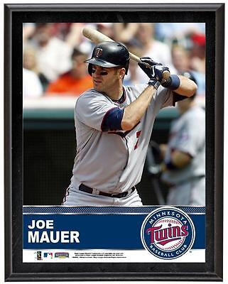 "Joe Mauer Minnesota Twins Sublimated 10.5"" x 13"" Plaque"
