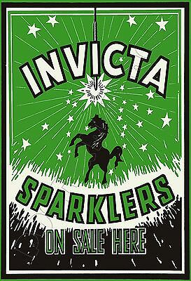 """Invicta SPARKLERS On Sale Here - POSTER 13x19"""" - Fireworks !!"""