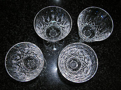 Waterford Crystal Lismore White Wine Glasses set of 4