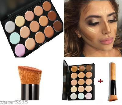 15 color Concealer and contour palette  with brush face cream makeup  #1