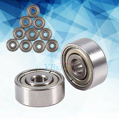 10Pcs 623ZZ 3x10x4mm Deep Groove Ball Bearing Steel For Skateboard Roller Blade