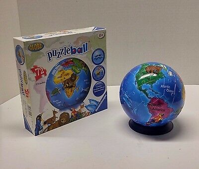 Ravensburger 3D Jigsaw Puzzle Ball Globe 72 Pieces With Stand