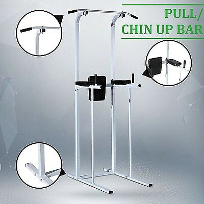 Fitness Power Tower Dip Pull/Chin Up Bar Station Home Gym Fitness Exercise