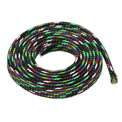 6mm PET Cable Wire Wrap Expandable Braided Sleeving Multicolor 1M Length
