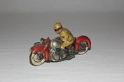 Rare George Fischer German Tin Litho Wind Up Motorcycle GF 207 Works Must L@@K