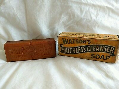 Vintage soap unused Watsons Matchless cleanser (1920s)