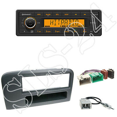 Continental TR7412UB-OR + Volvo S80 1-DIN Blende mit Fach in black + ISO-Adapter