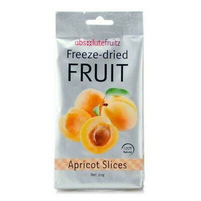 Absolute Fruitz Freeze Dried Apricot Slices Vegan Gluten-free Healthy Snack