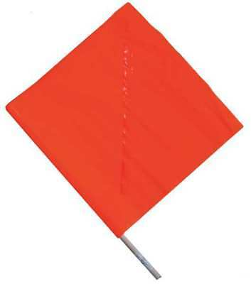Handheld Warning Flag,Orange,18x18In ZORO SELECT 1EKR8