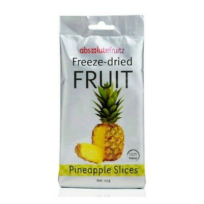 Absolute Fruitz Freeze Dried Pineapple Natural Vegan Gluten-free Healthy Snack