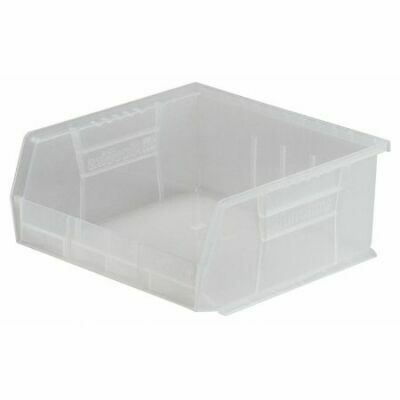 "Clear Hang and Stack Bin, 10-7/8""L x 11""W x 5""H AKRO-MILS 30235SCLAR"