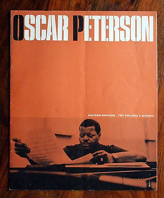 Oscar Peterson Trio 1960's Uk Tour Concert Programme Brochure