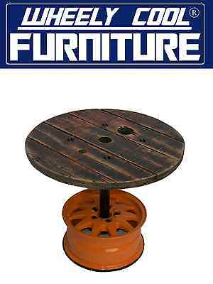 """Bar Table - Man Cave - Games Room - 15"""" Wheel - Wheely Cool Furniture"""