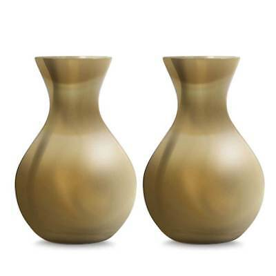 Luxe Glass Bud Vases - Glossy Gold (10cm - Set of 2) Home Decor