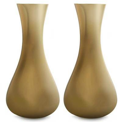 Luxe Glass Bud Vases - Glossy Gold (15cm - Set of 2) Home Decor