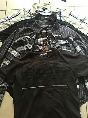 Mens Shirts Bundle Large. Henleys, Flanno, Fox And More