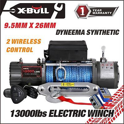X-BULL 12V 13000LBS Electric Winch Towing Truck Trailer Synthetic Rope 12000LBS