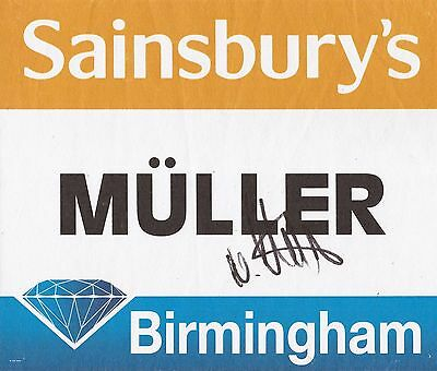 Athletics: Nadine Muller Signed Birmingham Diamond League 2015 Worn Bib+Coa