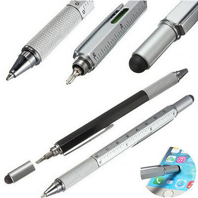 6 In 1 Touch Stylus Ballpoint Pen With Ruler Screwdriver Tool For Smart Phone