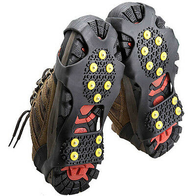 Non Slip Snow Shoes Boots Cover Overshoes Step Ice Cleats Spikes Grips Crampons