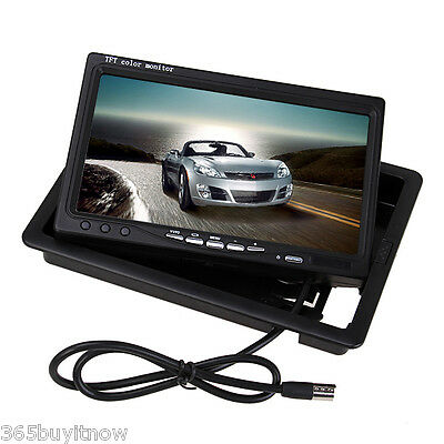 7 Inch LCD 12V Car Rear View Headrest Backup Monitor Parking Night Vision Camera
