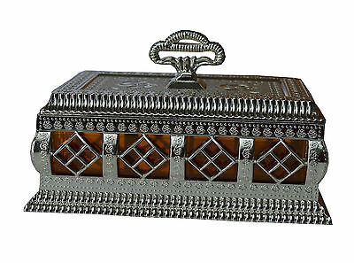 Indian Silver White Decorative Dry Fruit Box Plastic Tableware Serving Tray