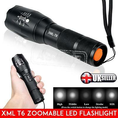 5000LM T6 Police LED Zoomable Flashlight Waterproof Torch Light Lamp 18650 AAA