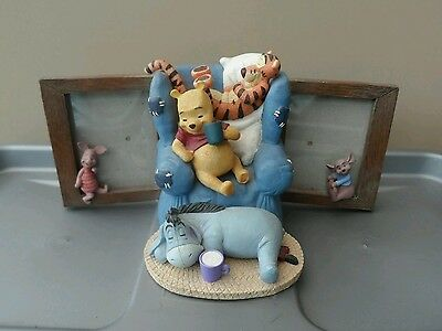 Disney Winnie The Pooh Large Double Picture Frame with Figure's. Lovely Item