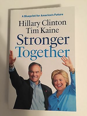 Hillary Clinton Tim Kaine Dual Signed Autographed Stronger Together Book Jsa Loa