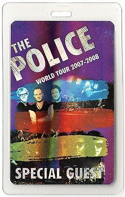 The Police authentic 2007-2008 concert tour Laminated Backstage Pass