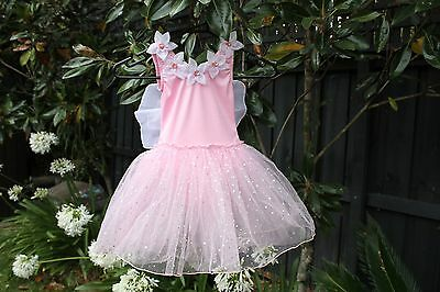 NEW Girls Fairy Costume Party Dress Fairy Floss with Wings