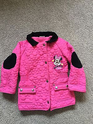Girls Disney Minnie Mouse Padded Fleece Lined Jacket 5-6 Years