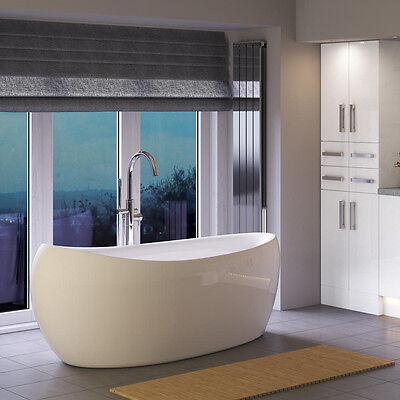 Hudson Reed 1750x850mm Purity Contemporary Teardrop Freestanding Bath White