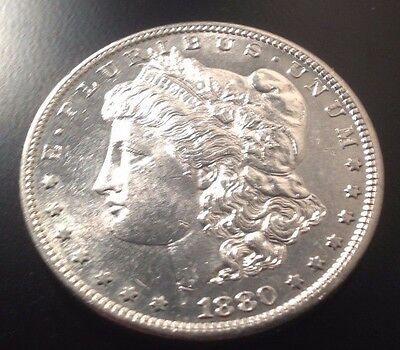 1880 S . Morgan Dollar In Brilliant Uncirculated Condition--- .900 Silver