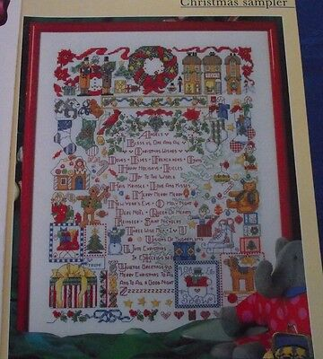 Everything You Love About Christmas In One Sampler Cross Stitch Chart