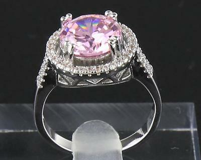 Antique Natural Pink Diamond Ring 5.20ct In 14kt Solid White Gold Size8