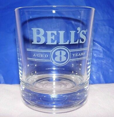 Bell's Aged 8 Years Scotch Whisky Glass Tumbler Thick Based