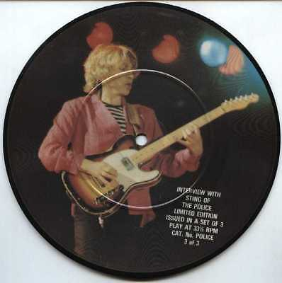 "THE POLICE UK PICTURE DISC 7"" Single INTERVIEW Part 3 of Set"