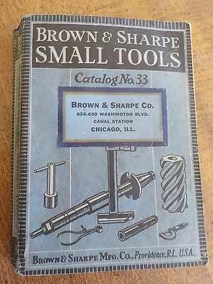 1938 Brown & Sharpe Small Tools Catalog NO. 33 480 PAGES Chicago
