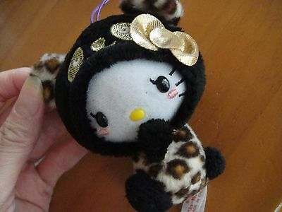 Hello Kitty Plush Toy Doll  New Panda limited version Not for sale Black Leopard