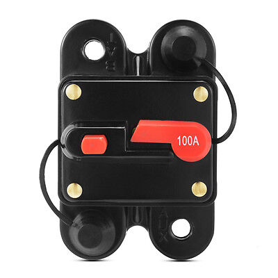 100A/200A DC 12V Car Audio Inline Circuit Breaker Fuse Manual Reset for Auto Car