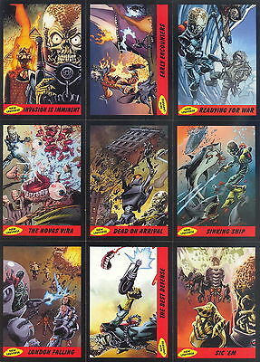 "Mars Attacks Heritage Complete ""guide To The New Universe"" 15 Insert Card Set"