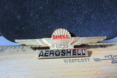 Vintage Areo Shell Winged Metal Pin