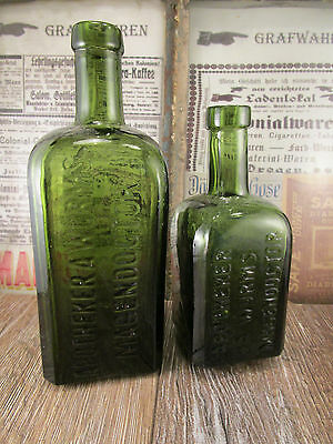 ++Antique++ German stomach bitters / bottles / Apothecary Wurms Magendoctor 1890