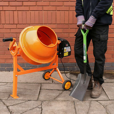63 Litre Pro 240V 220W Portable Electric Concrete Cement Mixer Mortar Plaster